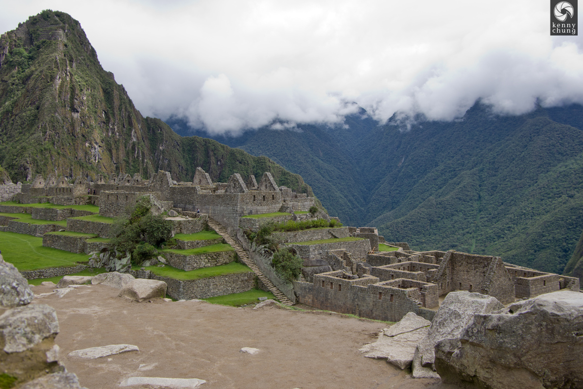 Housing structures at Machi Picchu
