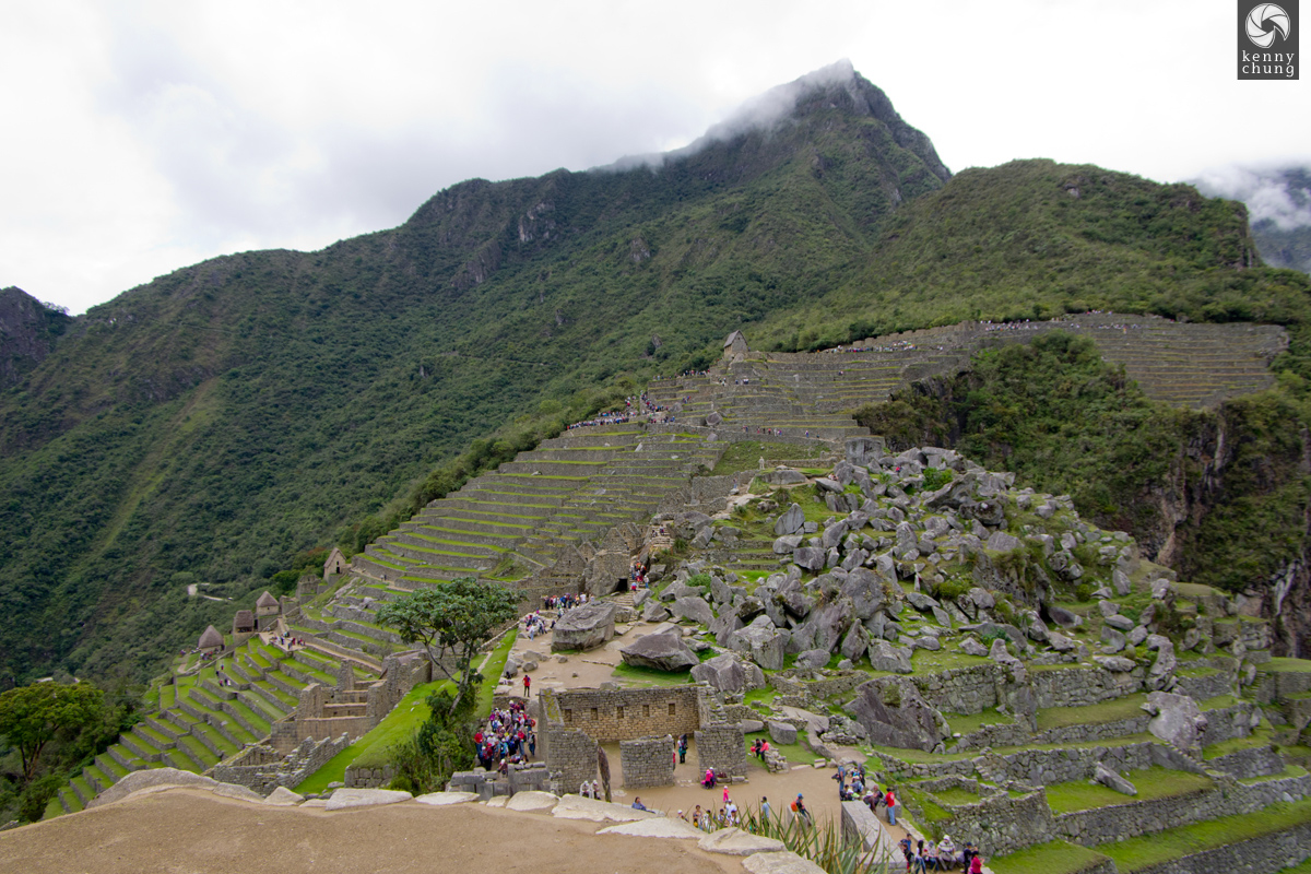 Rocky terraces at Machu Picchu