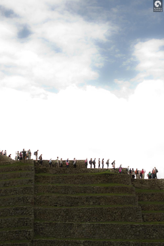 Tourists walking at Machu Picchu