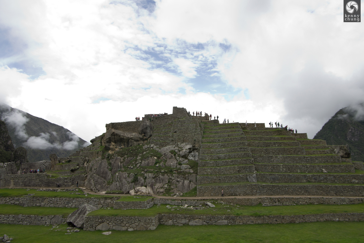 Tiered terrace steps at Machu Picchu