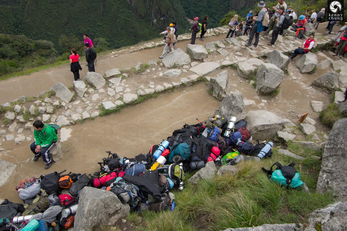 Mochileros at Machu Picchu