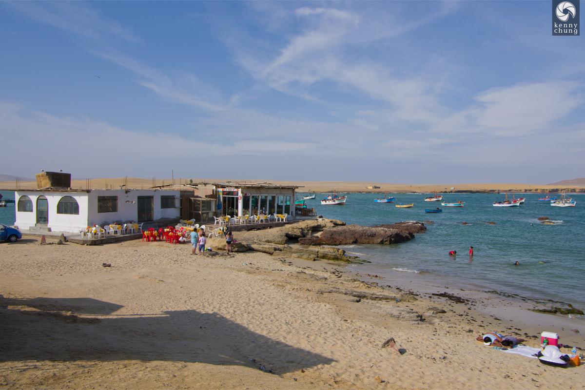 The beach and Paracas Bay