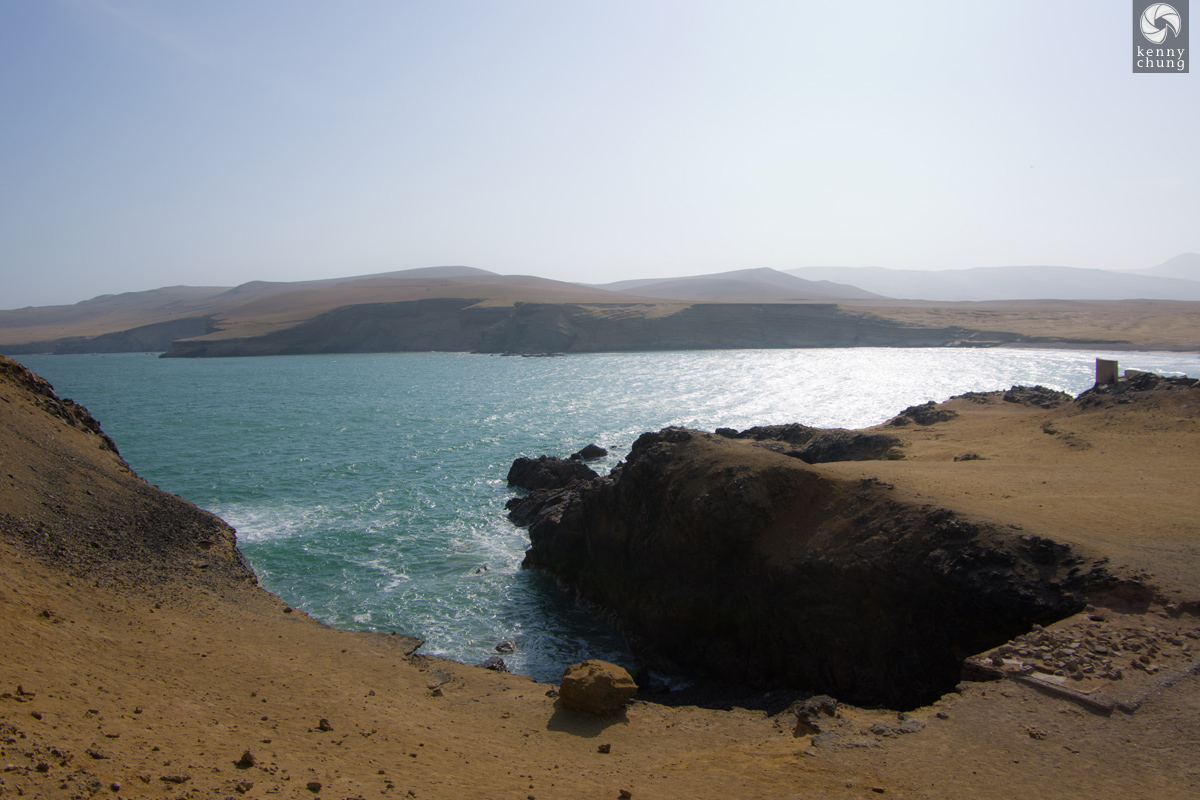 A view of Paracas Bay from the cliffs