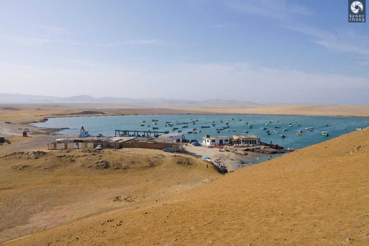 Fishing boats on Paracas Bay
