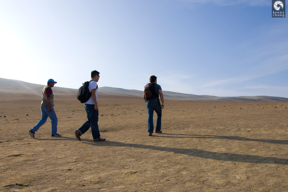 Our tour group walking back to our car in Paracas