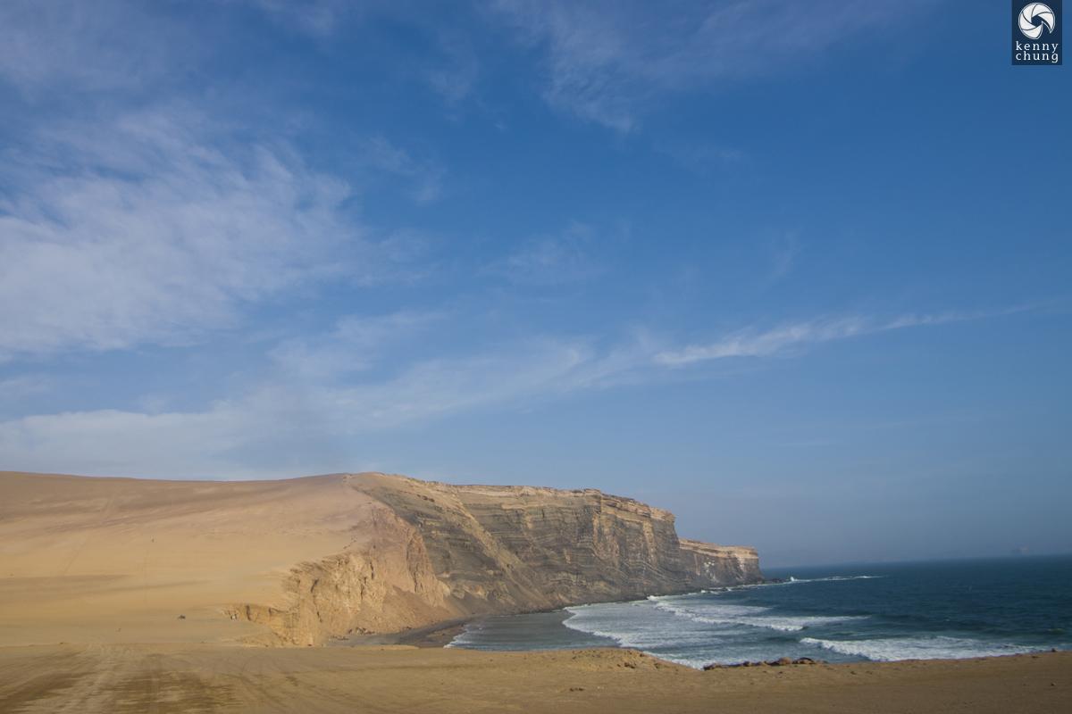 Cliffs and beach in Paracas