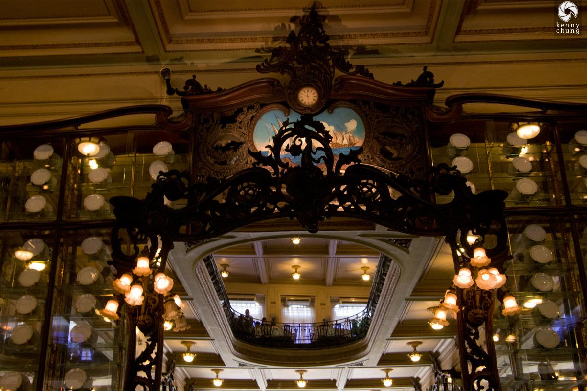 Interior mirror at Confeitaria Colombo in Rio de Janeiro
