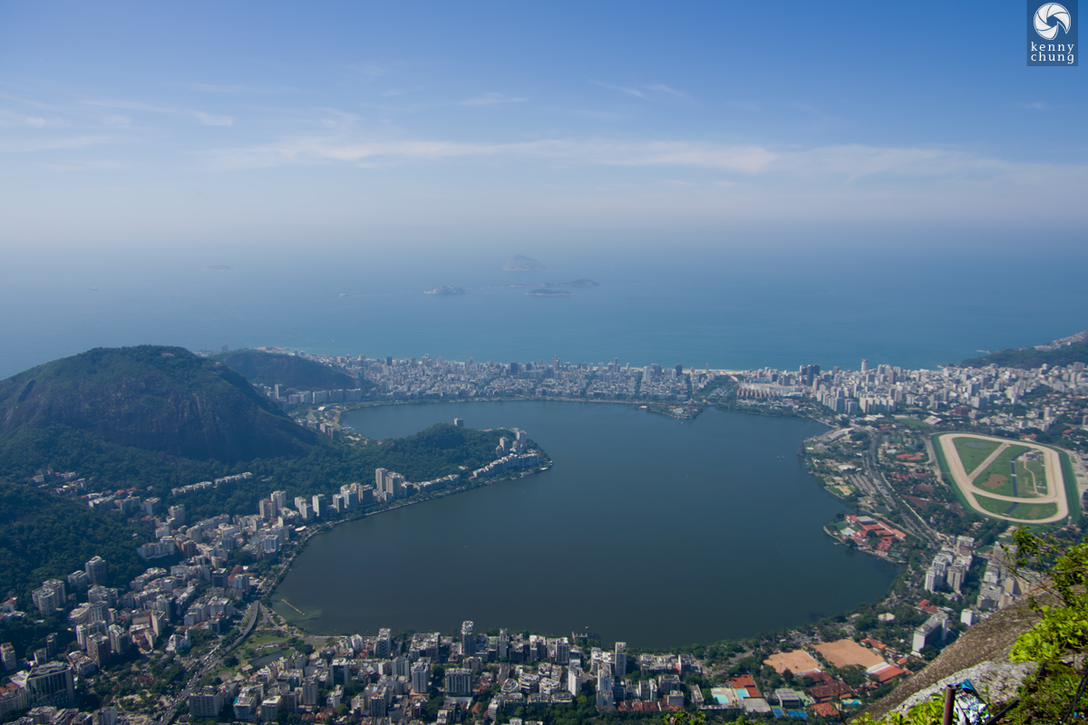 View from the top of Corcovado.