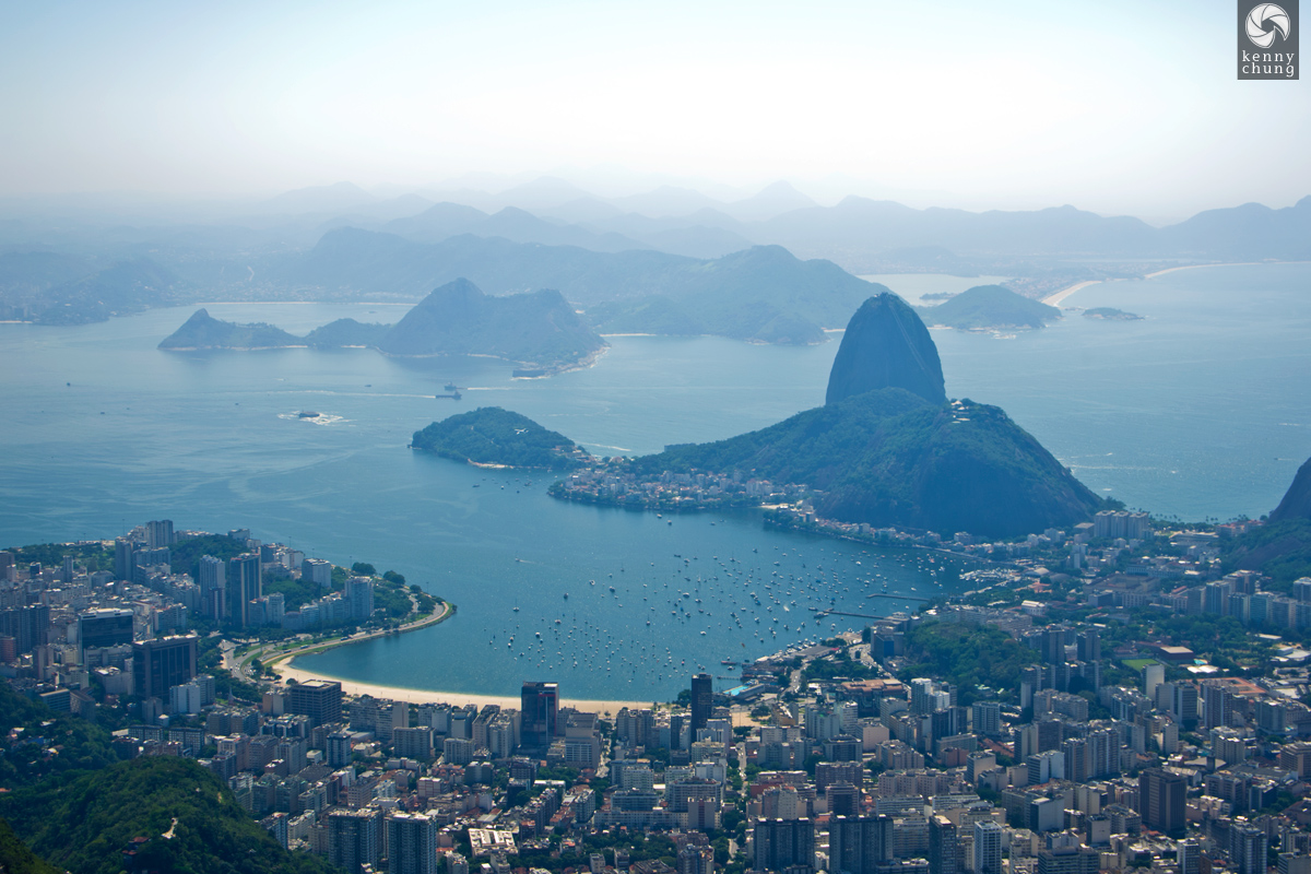 Sugarloaf Mountain from Corcovado, Brazil