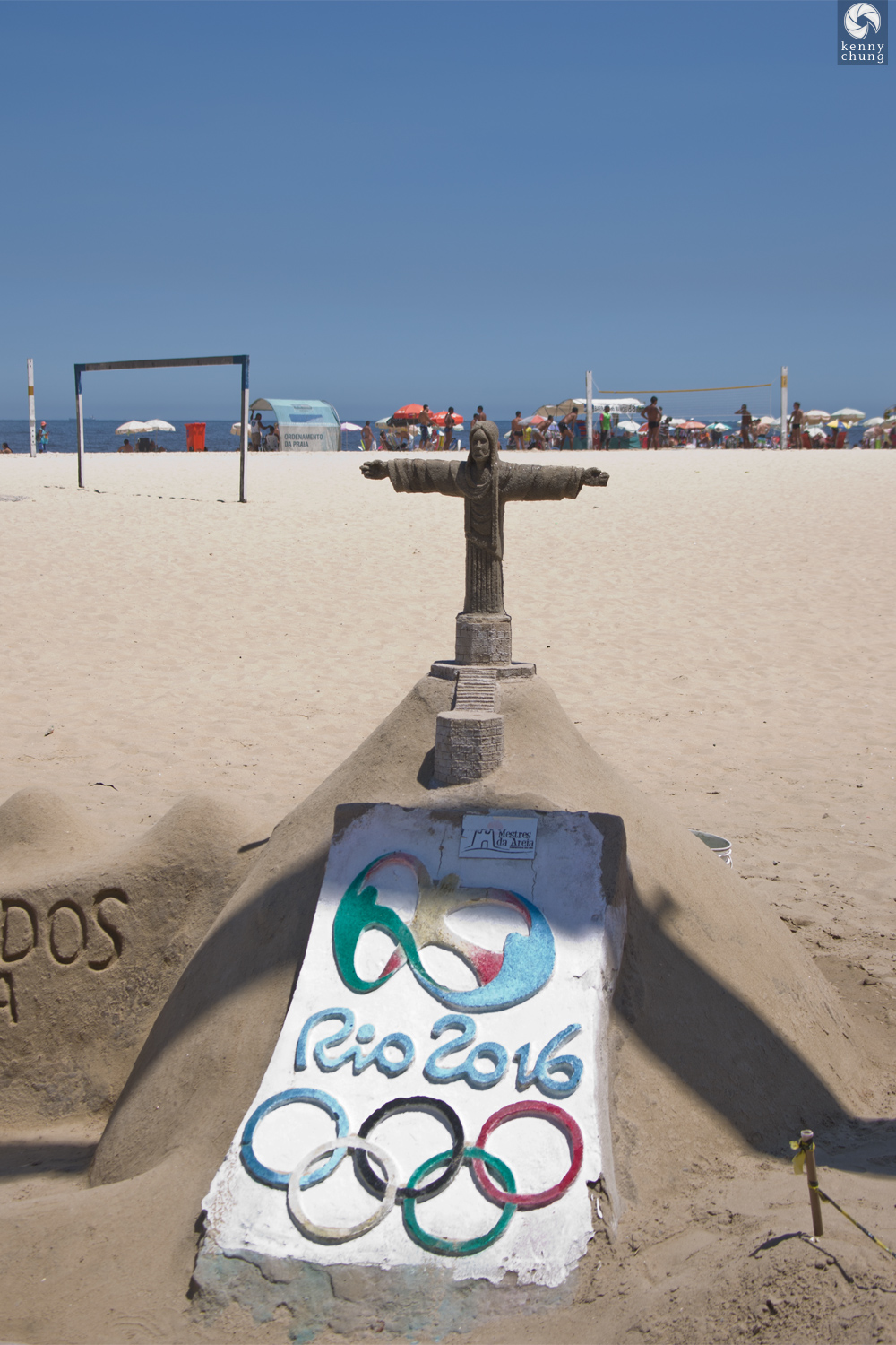Cristo Redentor sand sculpture for Rio 2016 Olympics