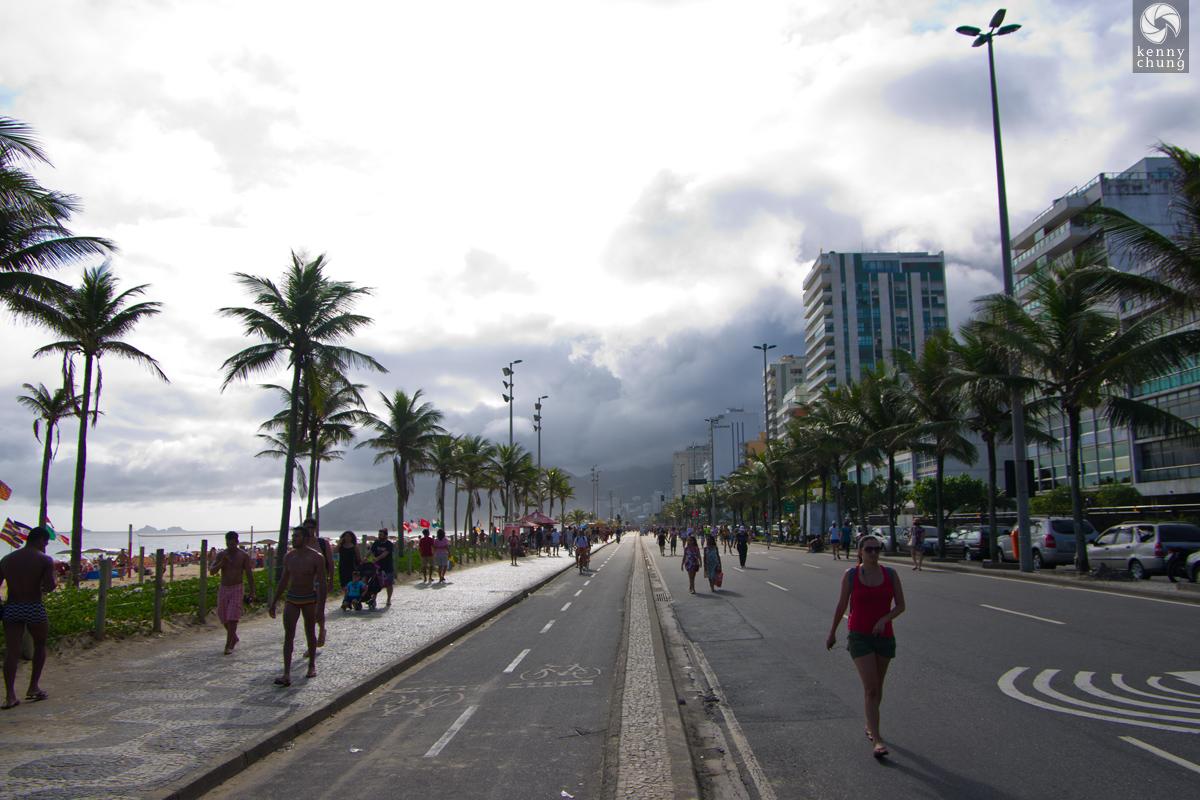 Ipanema Beach Sunday Pedestrian Plaza in Rio de Janeiro