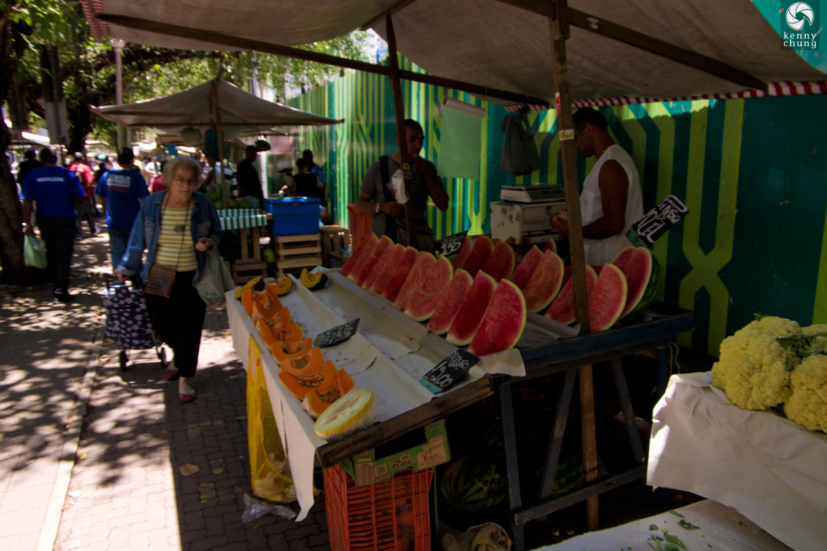 Watermelons at the Ipanema Farmers Market in Rio de Janeiro