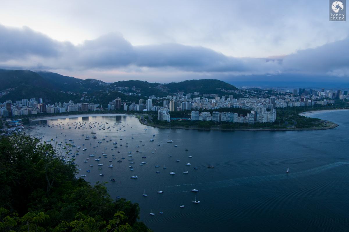 Boats on Guanabara Bay in Rio de Janeiro, Brazil.