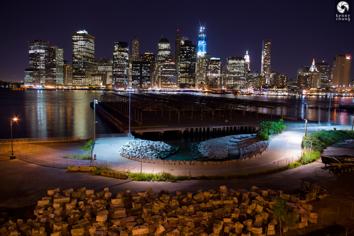 Brooklyn Bridge Park under construction