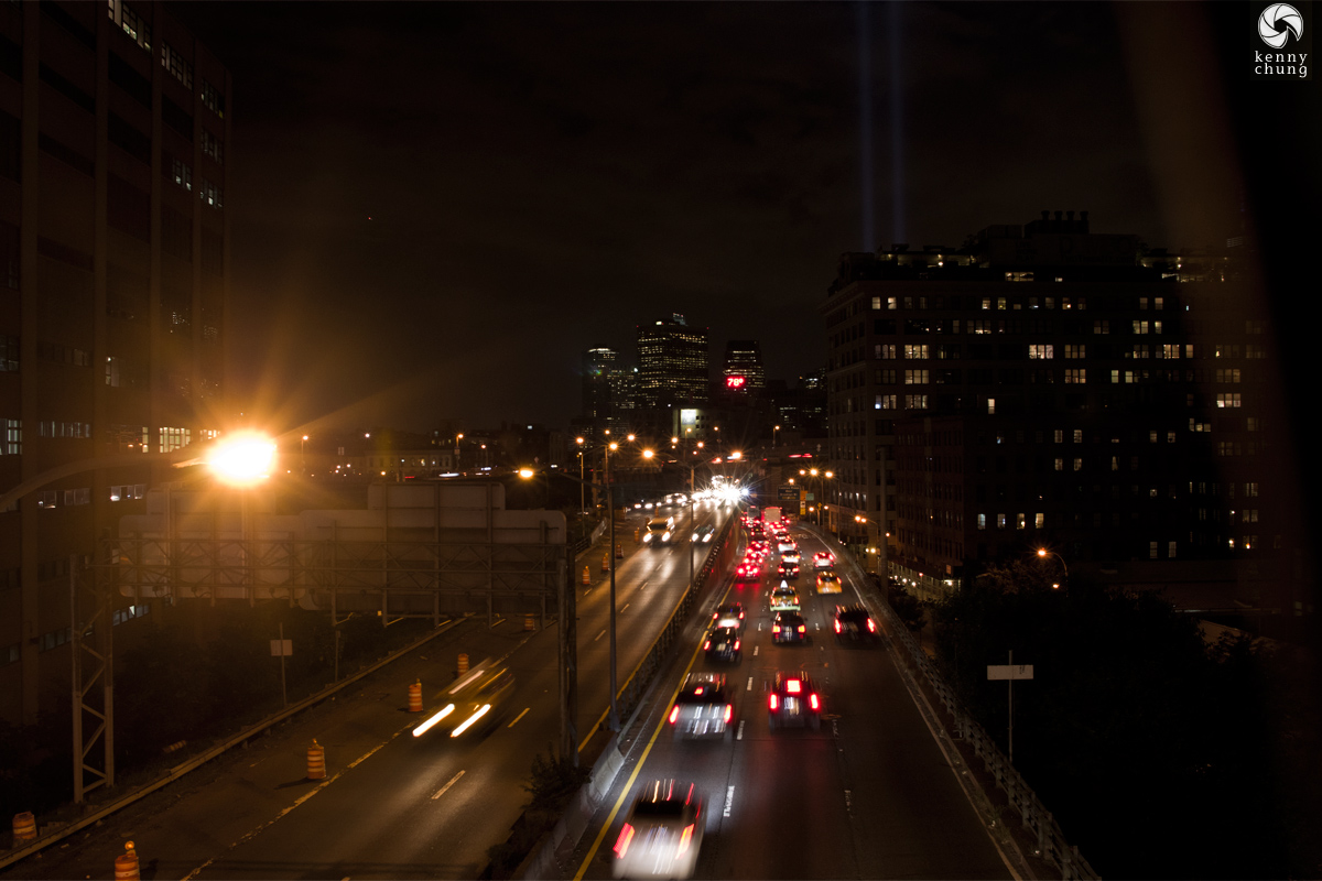 Tribute In Light 2014 over the Brooklyn Queens Expressway