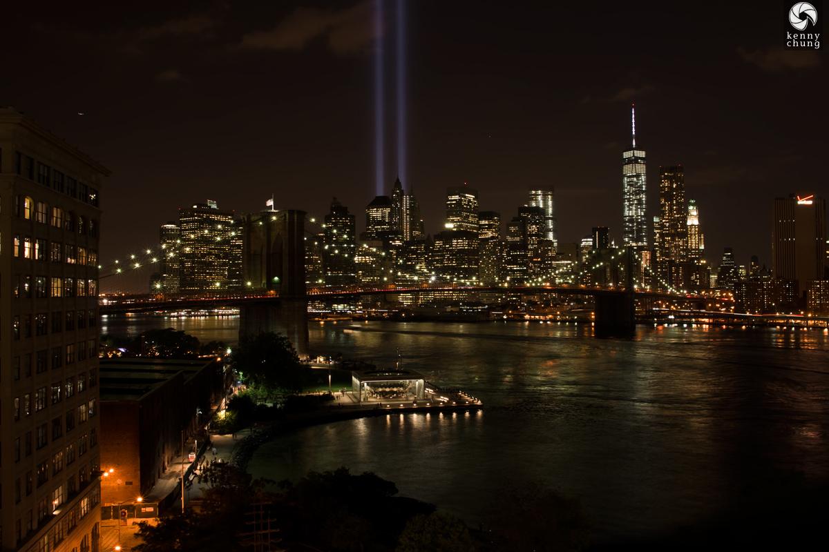 Brooklyn Bridge Park, Jane's Carousel, the Brooklyn Bridge, and Tribute in Light 2014