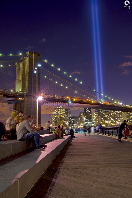 Tribute In Light at  Brooklyn Bridge Park