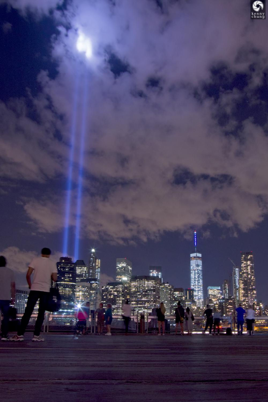 Tribute In Light 2015 at Brooklyn Bridge Park Pier 1