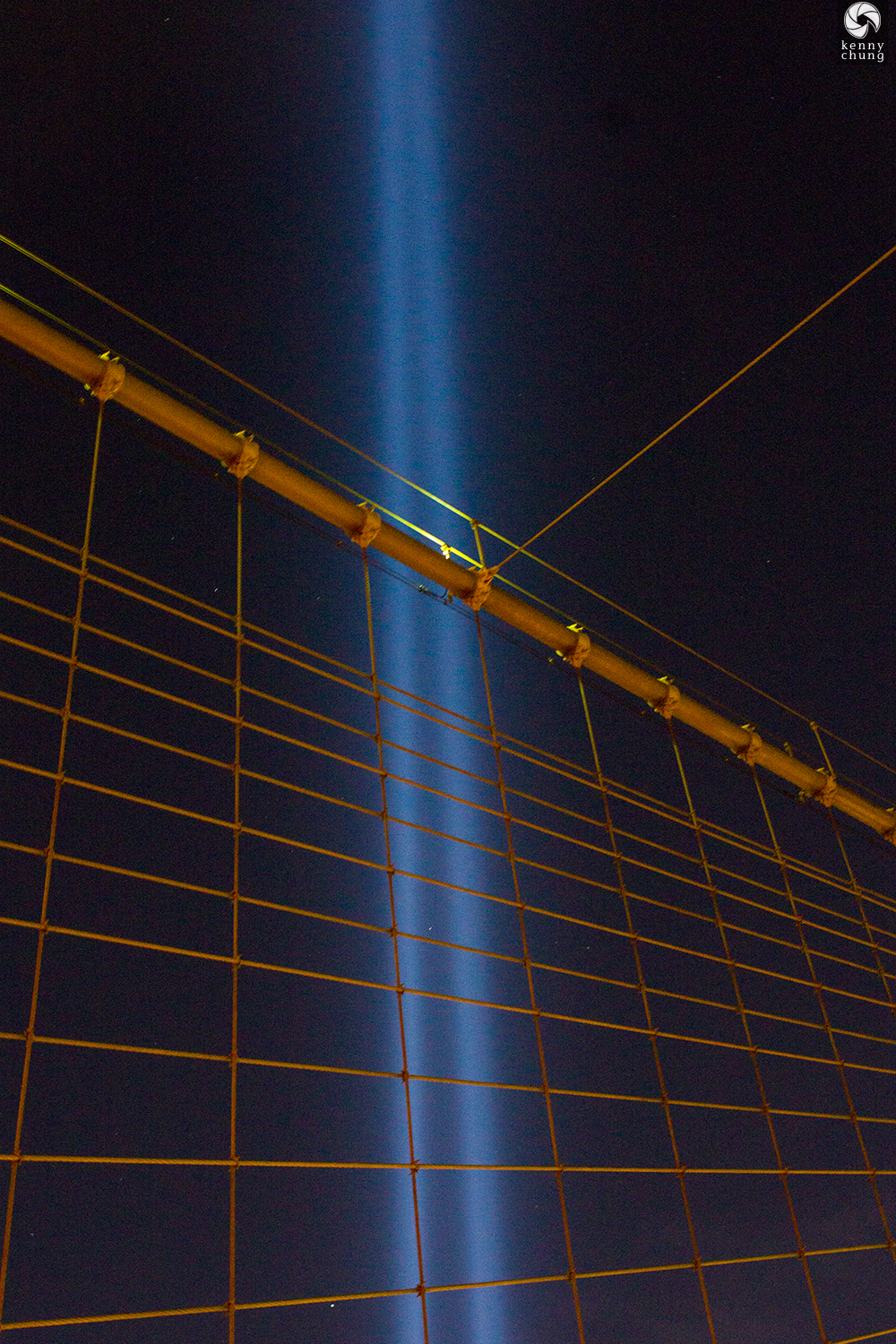 Tribute in Light 9/11 Memorial from the Brooklyn Bridge