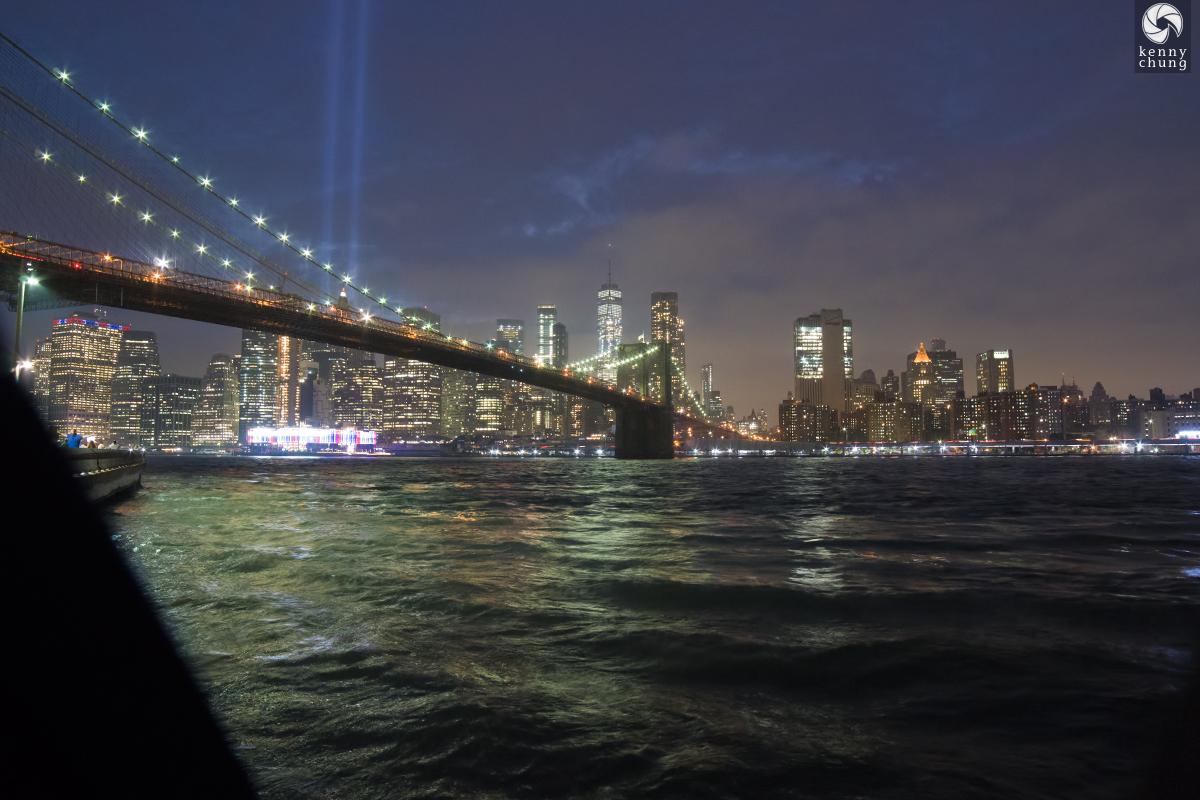 Tribute in Light 2018 from Brooklyn Bridge