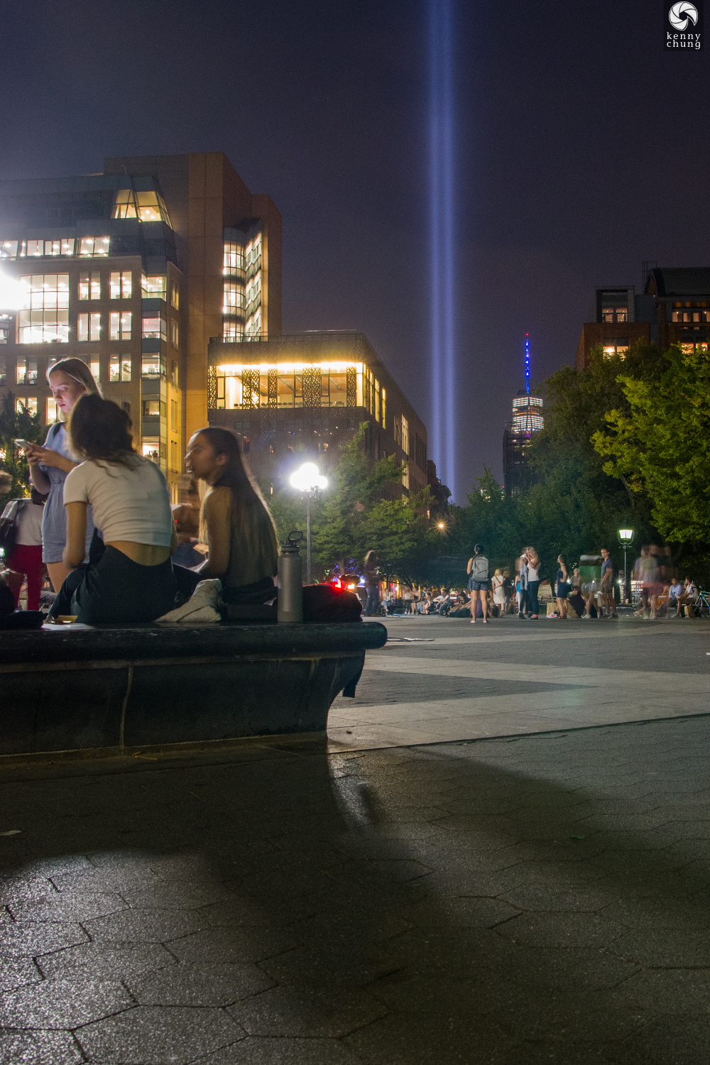 Tribute in Light 2019 from Washington Square Park