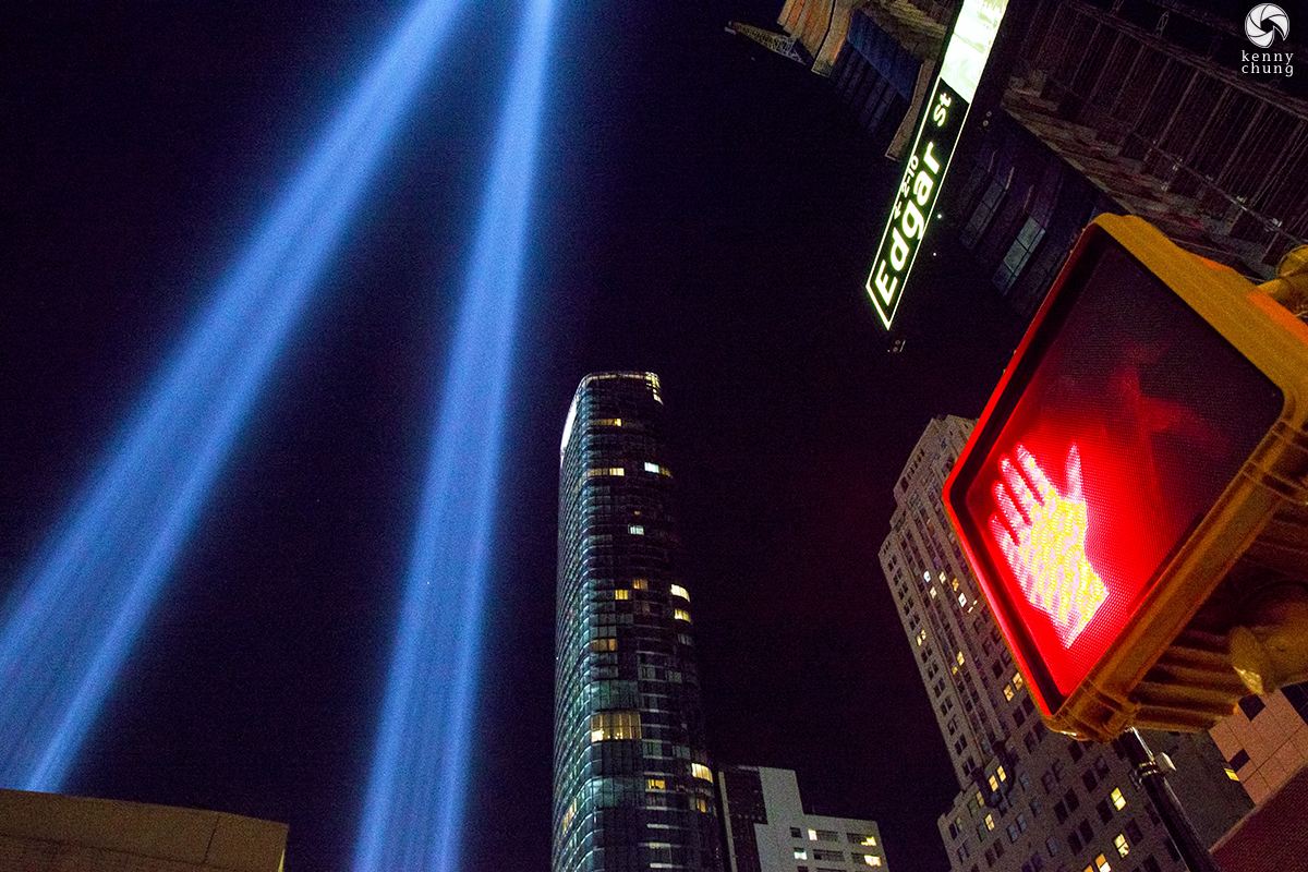 Tribute In Light 2019 from Manhattan