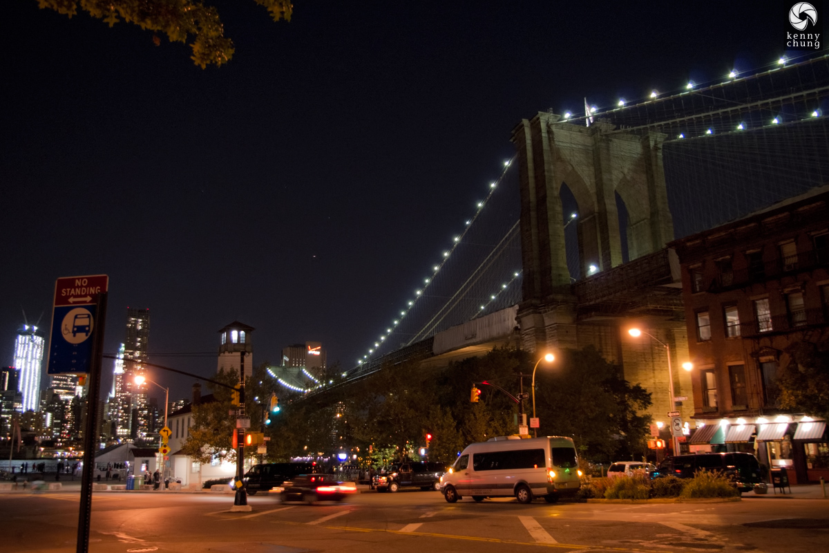 Brooklyn Bridge from Old Fulton St Dumbo