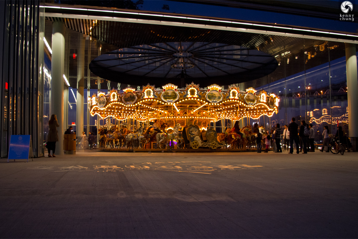 Janes Carousel at night