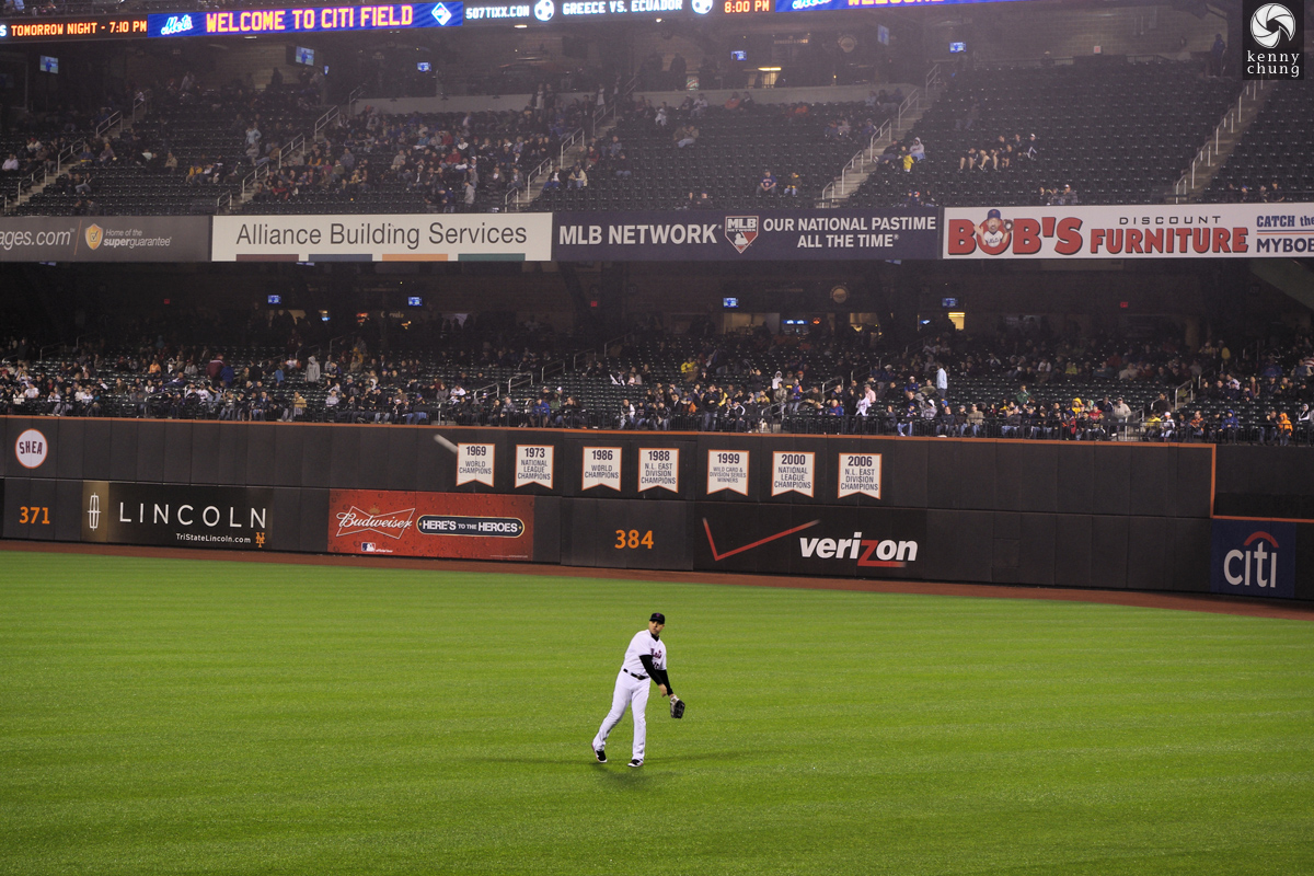Carlos Beltran warming up at Citi Field