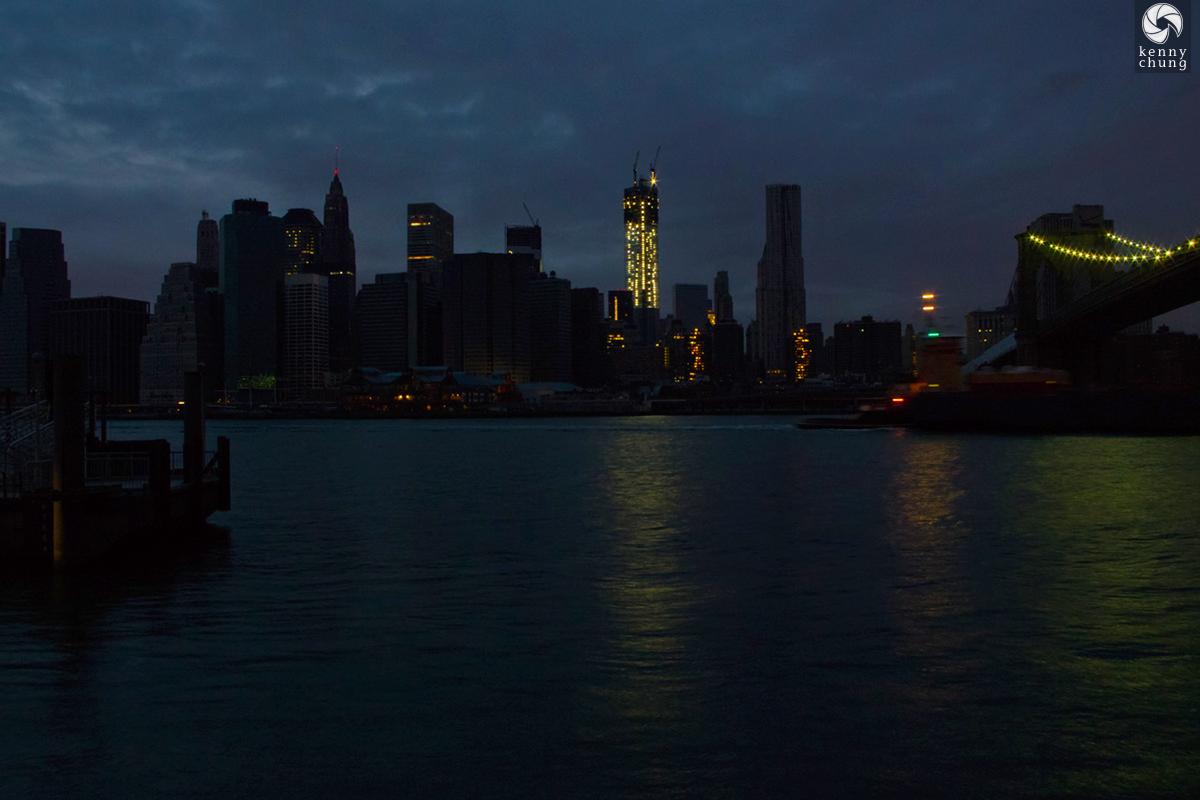 Hurricane Sandy blackout in lower Manhattan in 2012