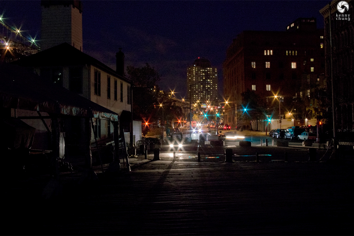 DUMBO during the 2012 Hurricane Sandy blackout