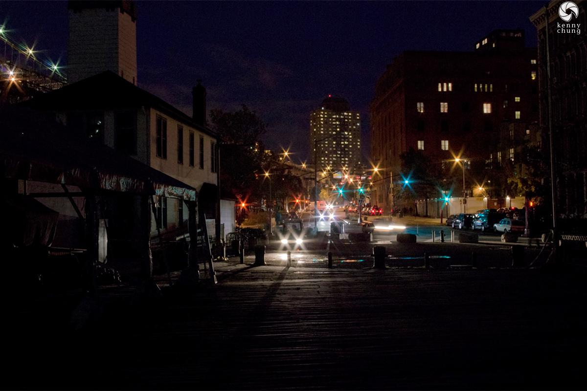 DUMBO during the 2012 Hurricane Sandy blackout
