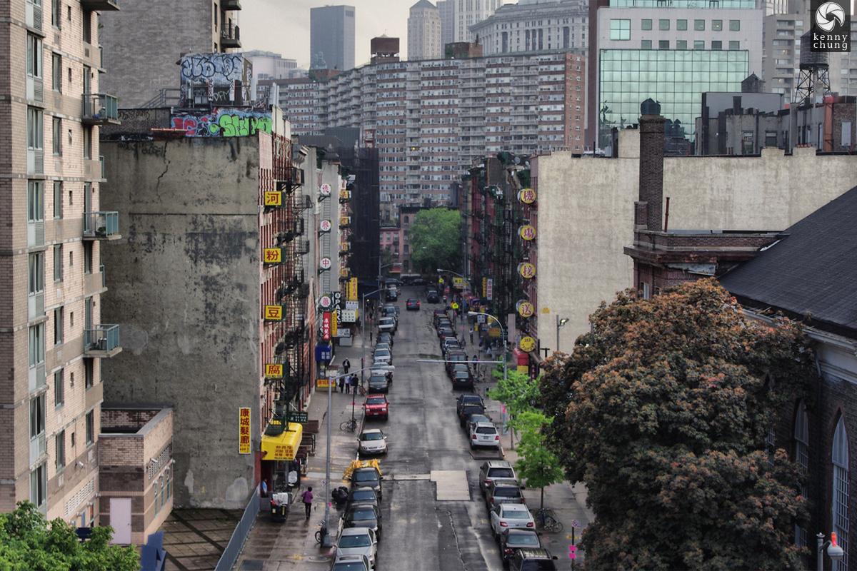 View of Chinatown from the Manhattan Bridge