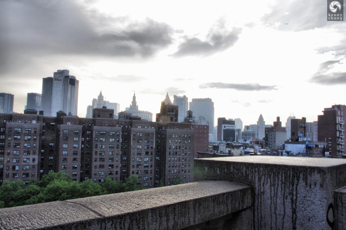 View of New York City from the Manhattan Bridge