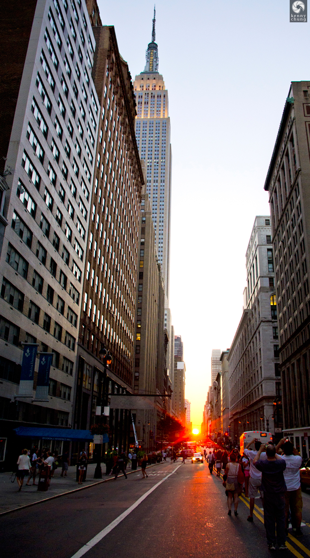 The end of Manhattanhenge on July 12