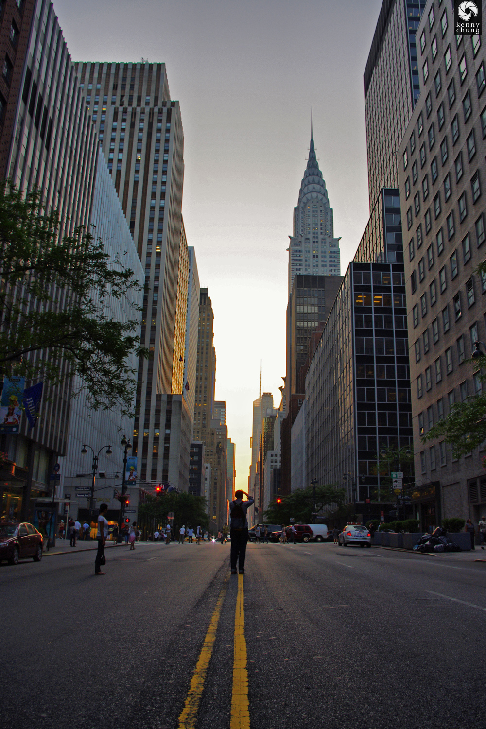 Street photographer at Manhattanhenge