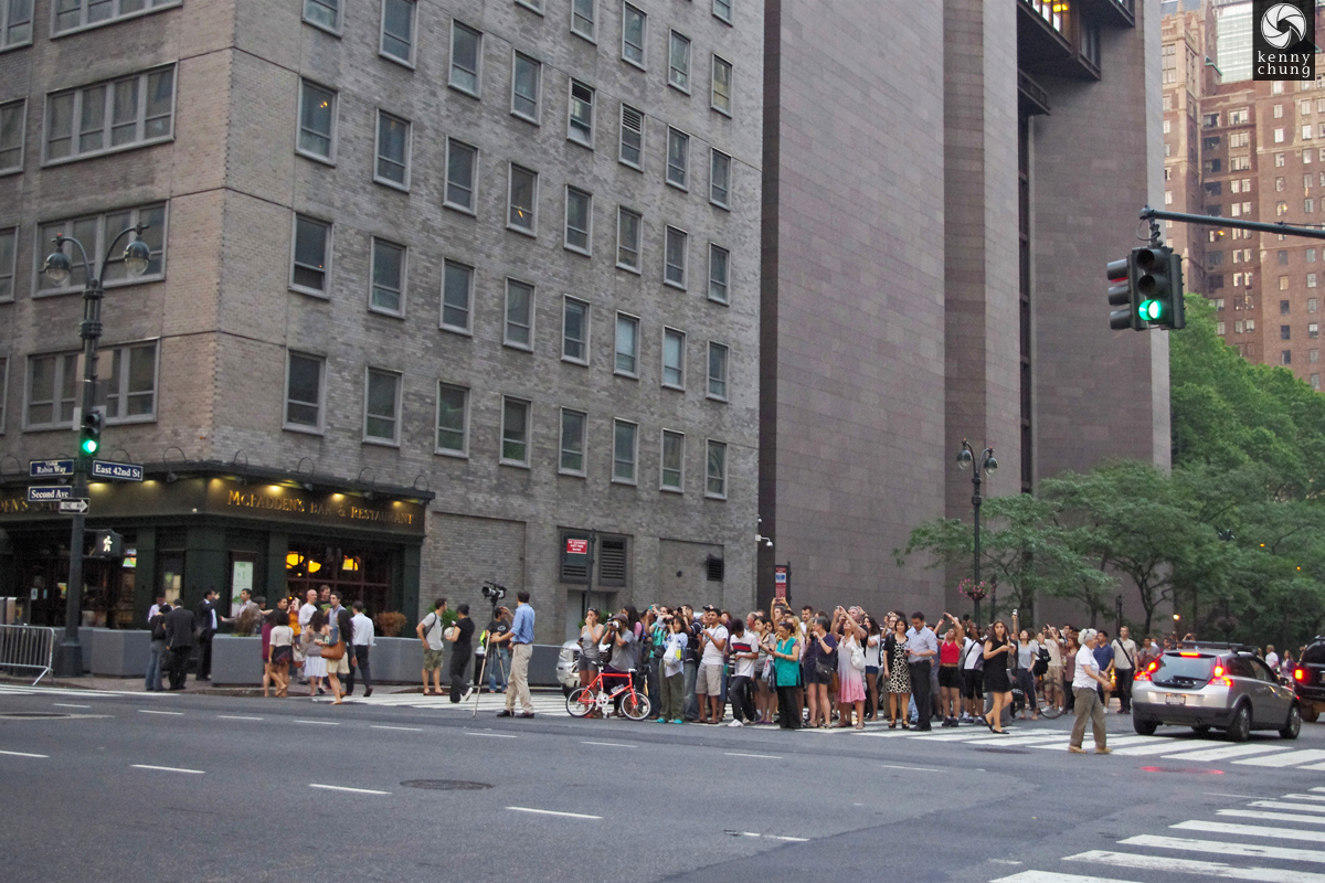 Street photographers at 42nd St for Manhattanhenge
