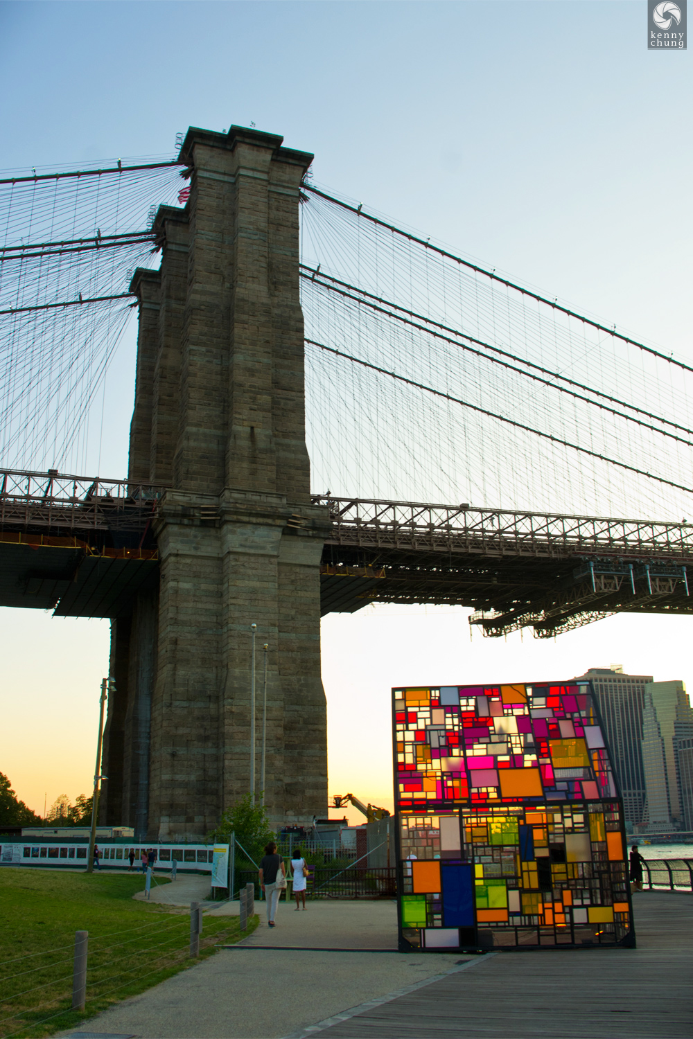 Tom Fruin's Stained Glass House at Brooklyn Bridge Park